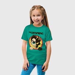 Футболка хлопковая детская The Offspring цвета зеленый — фото 2