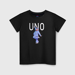 Футболка хлопковая детская Little Big: UNO цвета черный — фото 1
