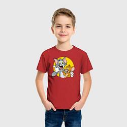 Футболка хлопковая детская Том и Джерри цвета красный — фото 2