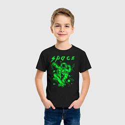 Футболка хлопковая детская Space цвета черный — фото 2