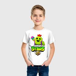 Футболка хлопковая детская BRAWL STARS SPIKE цвета белый — фото 2