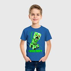 Футболка хлопковая детская MINECRAFT CREEPER цвета синий — фото 2
