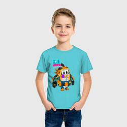 Футболка хлопковая детская Fall Guys Ultimate Knockout цвета бирюзовый — фото 2