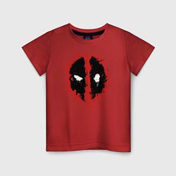 Футболка хлопковая детская Deadpool logo цвета красный — фото 1
