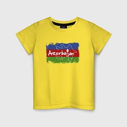 Футболка хлопковая детская Азербайджан цвета желтый — фото 1