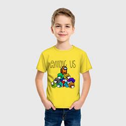 Футболка хлопковая детская Among Us Z цвета желтый — фото 2