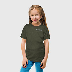 Футболка хлопковая детская S W O R D цвета меланж-хаки — фото 2