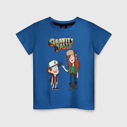 Футболка хлопковая детская Friendzoned цвета синий — фото 1
