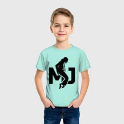 Футболка хлопковая детская MJ Music цвета мятный — фото 2
