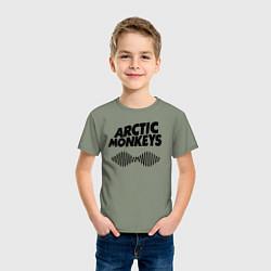 Футболка хлопковая детская Arctic Monkeys цвета авокадо — фото 2