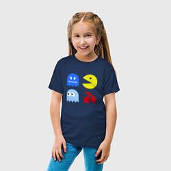 Футболка хлопковая детская Pac-Man Pack цвета тёмно-синий — фото 2