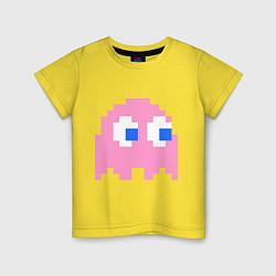 Футболка хлопковая детская Pac-Man: Pinky цвета желтый — фото 1