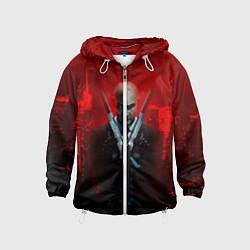 Ветровка с капюшоном детская Hitman: Red Blood цвета 3D-белый — фото 1