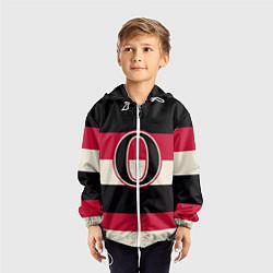 Ветровка с капюшоном детская Ottawa Senators O цвета 3D-белый — фото 2