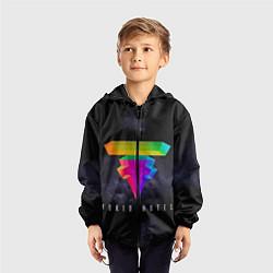 Ветровка с капюшоном детская Tokio Hotel: New Symbol цвета 3D-черный — фото 2