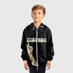 Ветровка с капюшоном детская Scorpions Rock цвета 3D-белый — фото 2