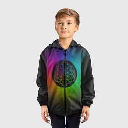 Ветровка с капюшоном детская Coldplay Colour цвета 3D-черный — фото 2