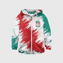 Ветровка с капюшоном детская FC Liverpool цвета 3D-белый — фото 1