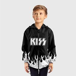 Ветровка с капюшоном детская Kiss цвета 3D-черный — фото 2