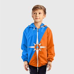 Ветровка с капюшоном детская МЧС России цвета 3D-белый — фото 2