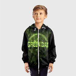 Ветровка с капюшоном детская Green Day: Acid Voltage цвета 3D-белый — фото 2
