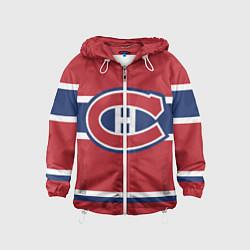 Ветровка с капюшоном детская Montreal Canadiens цвета 3D-белый — фото 1