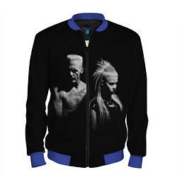 Бомбер мужской Die Antwoord: Black цвета 3D-синий — фото 1