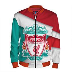 Бомбер мужской FC Liverpool цвета 3D-красный — фото 1