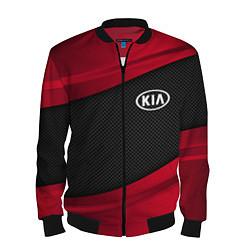 Бомбер мужской Kia: Red Sport цвета 3D-черный — фото 1