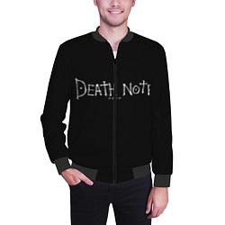 Бомбер мужской Death Note цвета 3D-черный — фото 2