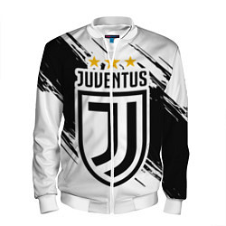Бомбер мужской Juventus: 3 Stars цвета 3D-белый — фото 1