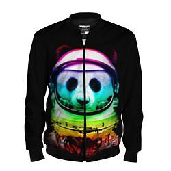 Бомбер мужской Панда космонавт цвета 3D-черный — фото 1