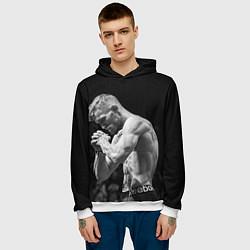 Толстовка-худи мужская Conor McGregor: Mono цвета 3D-белый — фото 2