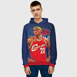 Толстовка-худи мужская LeBron 23: Cleveland цвета 3D-красный — фото 2
