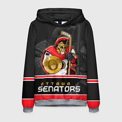 Толстовка-худи мужская Ottawa Senators цвета 3D-меланж — фото 1