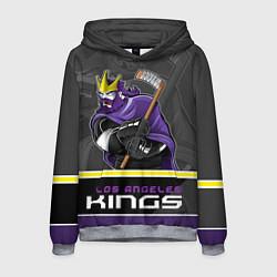 Толстовка-худи мужская Los Angeles Kings цвета 3D-меланж — фото 1