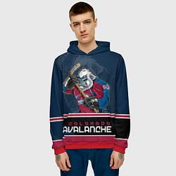 Толстовка-худи мужская Colorado Avalanche цвета 3D-красный — фото 2