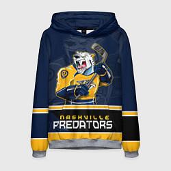 Толстовка-худи мужская Nashville Predators цвета 3D-меланж — фото 1