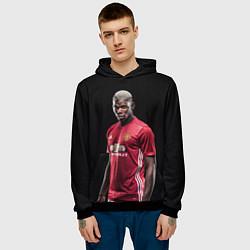 Толстовка-худи мужская Погба: Манчестер Юнайтед цвета 3D-черный — фото 2