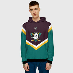 Толстовка-худи мужская NHL: Anaheim Ducks цвета 3D-черный — фото 2