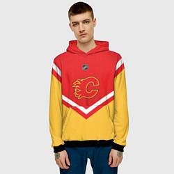Толстовка-худи мужская NHL: Calgary Flames цвета 3D-черный — фото 2