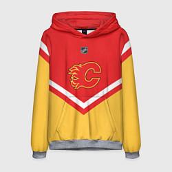 Толстовка-худи мужская NHL: Calgary Flames цвета 3D-меланж — фото 1