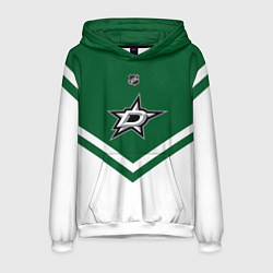 Толстовка-худи мужская NHL: Dallas Stars цвета 3D-белый — фото 1