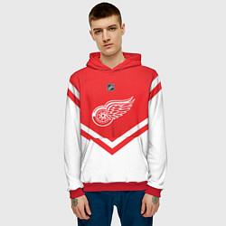 Толстовка-худи мужская NHL: Detroit Red Wings цвета 3D-красный — фото 2