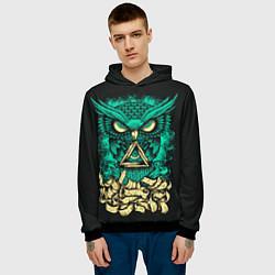 Толстовка-худи мужская Bring Me The Horizon: Owl цвета 3D-черный — фото 2