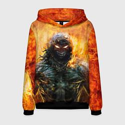 Толстовка-худи мужская Disturbed: Monster Flame цвета 3D-черный — фото 1
