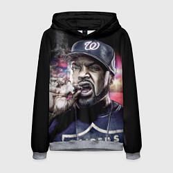 Толстовка-худи мужская Ice Cube: Big boss цвета 3D-меланж — фото 1
