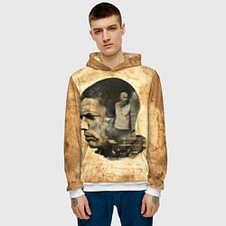 Толстовка-худи мужская Prison Break: Scofield Art цвета 3D-белый — фото 2