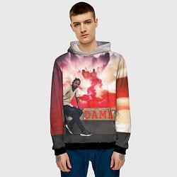 Толстовка-худи мужская Kendrick DAMN цвета 3D-черный — фото 2