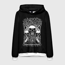 Толстовка-худи мужская Amon Amarth: Trio Skulls цвета 3D-белый — фото 1
